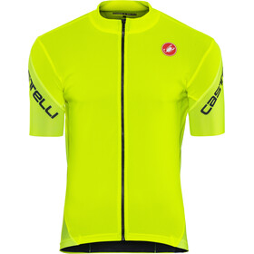 Castelli Entrata 3 Maillot FZ Hombre, yellow fluo